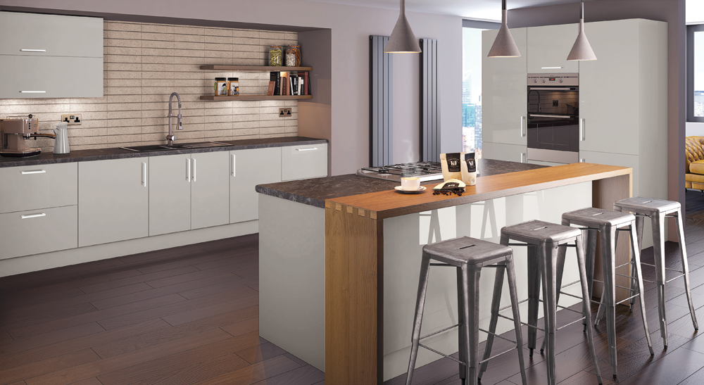 Euro Lochanna Kitchens - Dove grey kitchen units